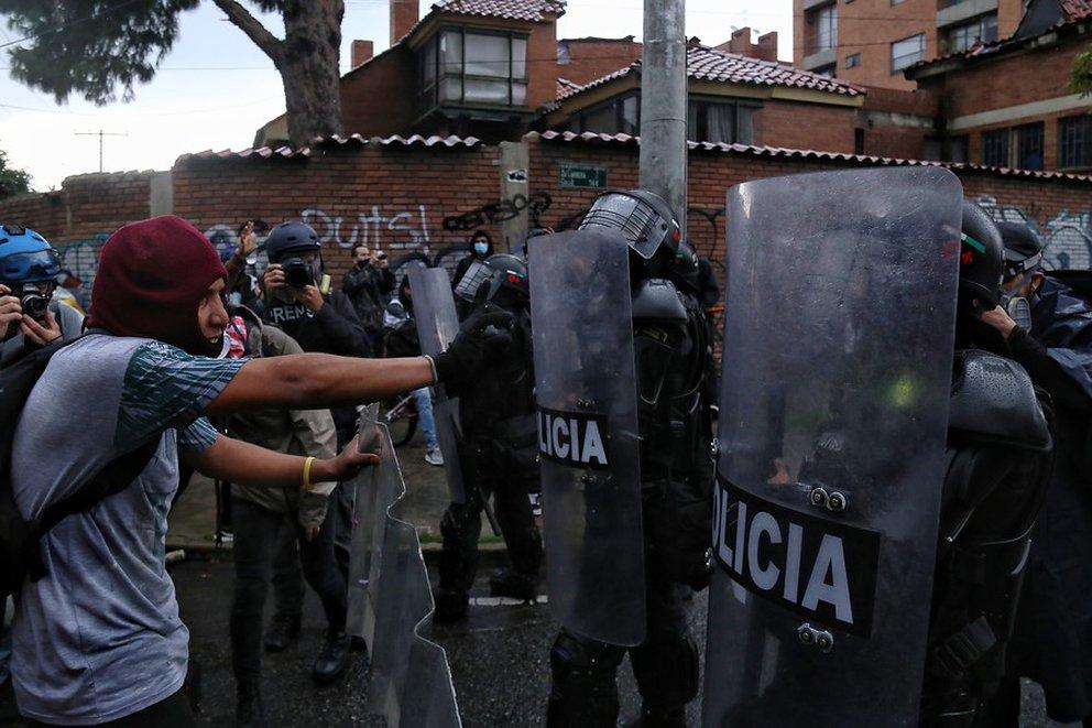 Temblores ONG atribuye el homicidio de 37 colombianos durante el paro nacional a la Policía. (Colprensa - Camila Díaz)