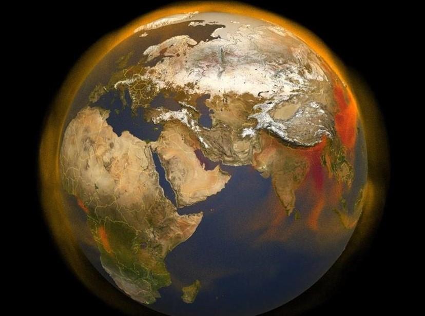 Metano en el mundo – NASA.